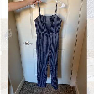 Striped Navy Pacsun Jumpsuit